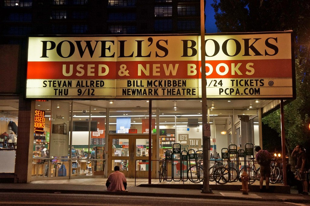 Stevan Allred on the Marquee at Powell's